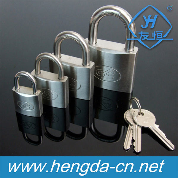 YH2015 stainless steel coating padlock seal safty stronge iron padlock with shackle
