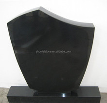 Russia Style Chinese Black Granite Tombstone Price
