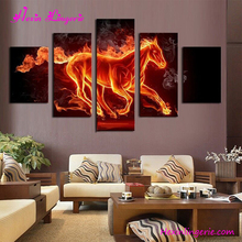 Fire horse animal printng living room modern wall hanging decoration