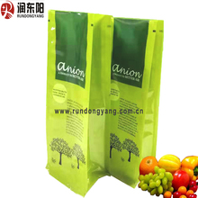 customized logo high quality flat bottom Standup Pouches for food refresh