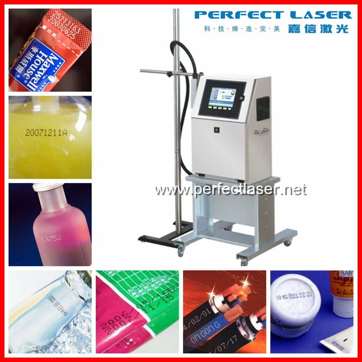 Touch Screen Date / Time / Serial Number Small Character lecai 750 inkjet printer for hot sale