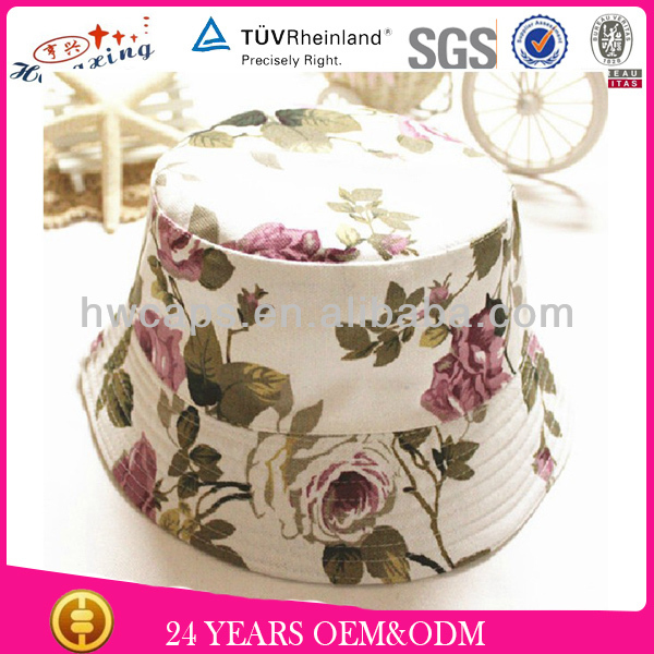 Men fashion beautiful custom printed floral bucket hats