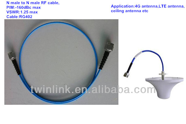 N type RF cable assembly for 4G LTE ceiling antenna
