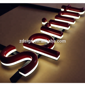 Waterproof Metal Advertising Letter Sign Small led 3d acrylic letters