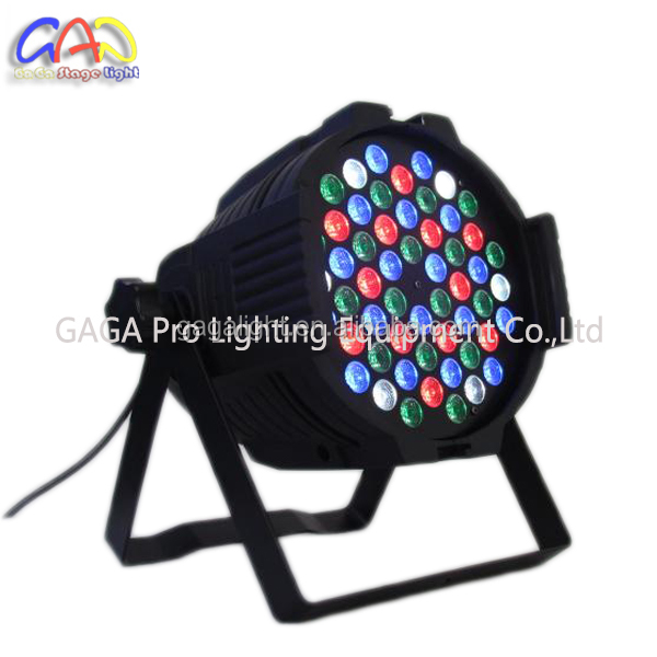 54PCS 3W/3in1 <strong>LED</strong> Par Can Light With Plastic Body RGBW Sound Actived Auto DM512 Magic Effect