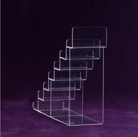 New Product Seven Layers Small Acrylic Fold Wallet Display Stand acrylic display shelf