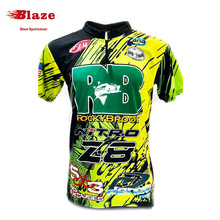 Pro style short sleeve dry fit fish clothing custom made in China