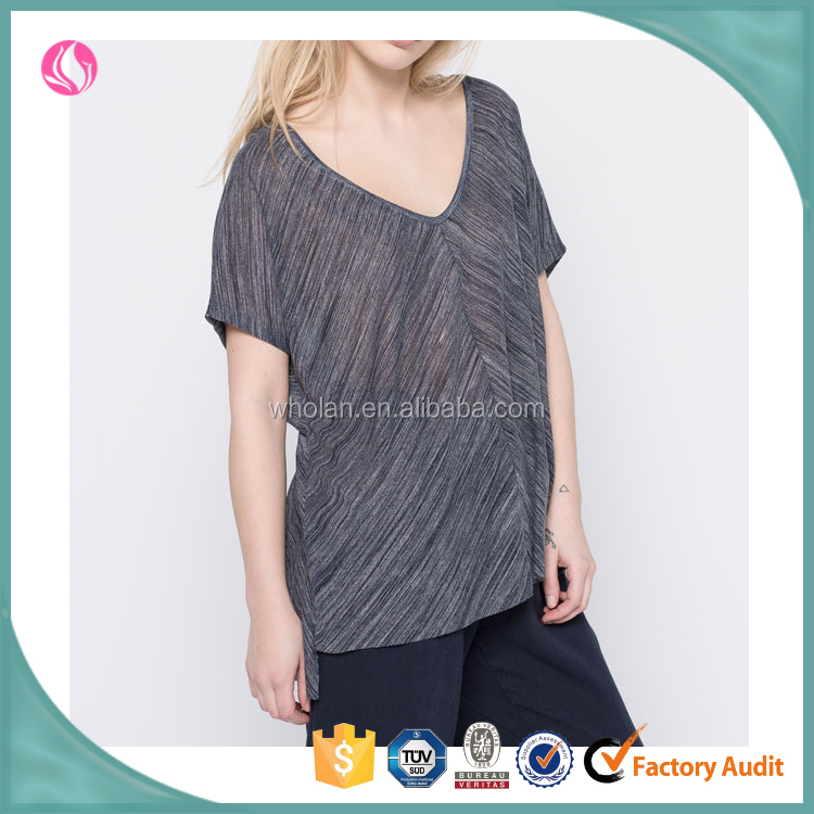 Wholesale sexy ladies loose tube tops for women cap sleeve t shirt