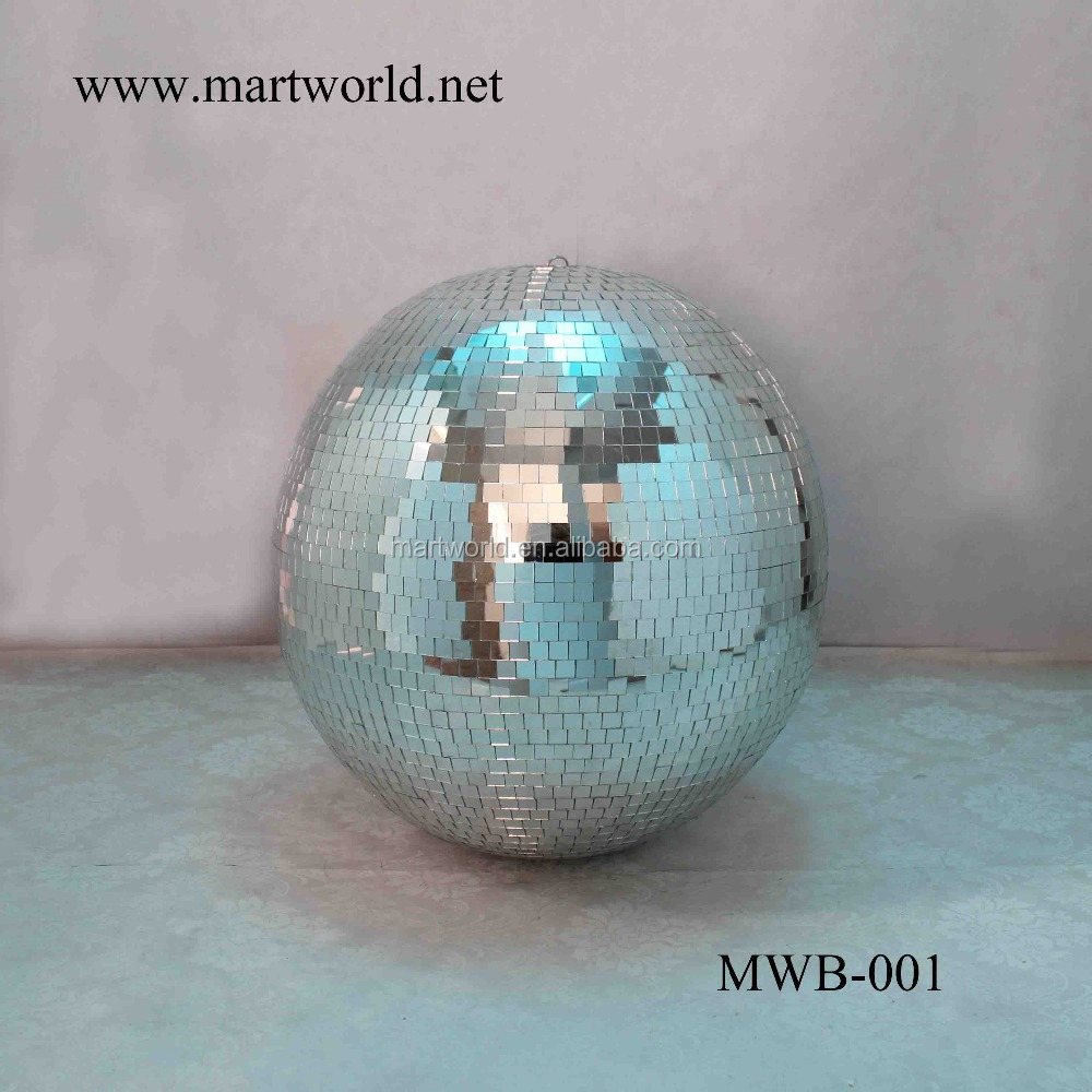 2017 Wholesale 20 inch disco mirror ball rotating disco ball for wedding decoration party decoration(MWB-001)