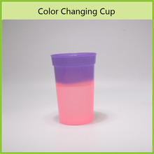 Factory Direct Price Temperature Sensitive Change Color Plastic Juice Cup