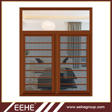 Double glazed luxury iron windows with internal blinds/luxury iron window grill designs