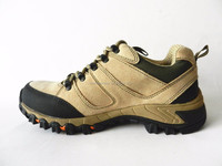 Real leather mens hiking shoes