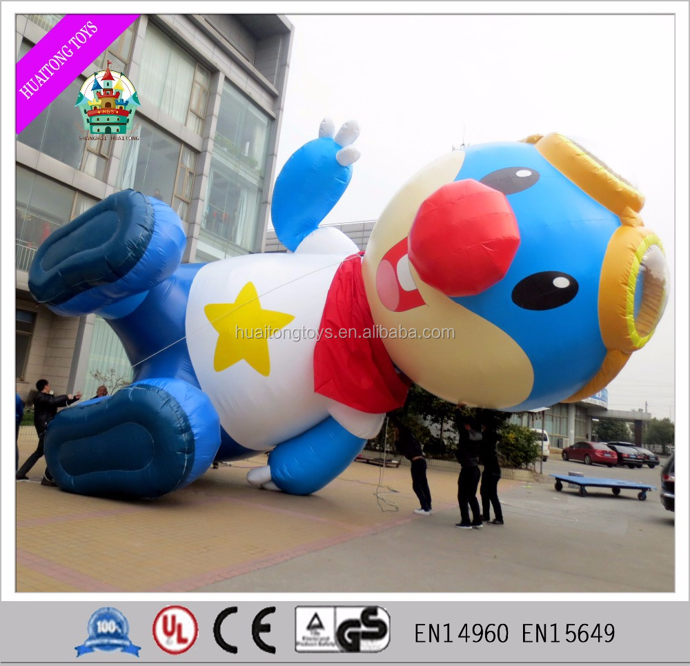 2016 giant inflatable cartoon characters advertising blue model cartoon model for sale