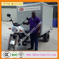 Nigeria 250cc Motorized Driving Type 3 Wheel Petrol Front Load Cargo Tricycle for Sale