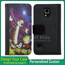For iphone 5 Leather Case Cover, Fashion Customize Wallet Flip Leather Case For for apple mobile phone 5