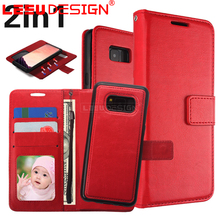 Hot selling with stand 2 in 1 magnetic tpu pu leather phone case cover for samsun g galaxy S8