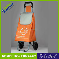 market shopping cart shopping bags shopping trolley with 2 wheels KG1007