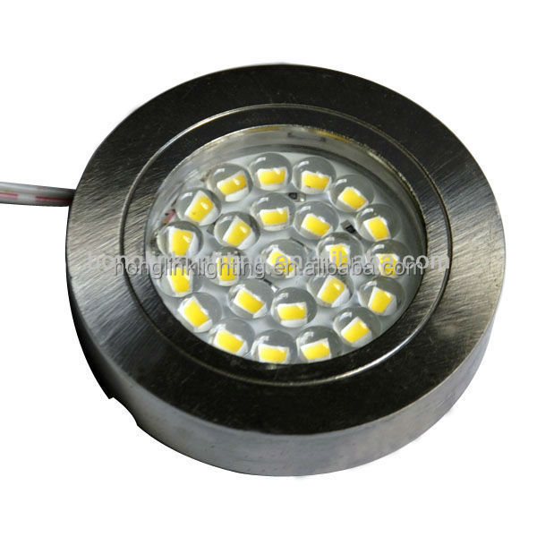 Round surface mounted cabinet 12V 2.4W SMD led cabinet light
