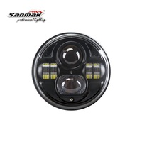 New products Round H4 to H13 bulbs 7 inch motorcycle headlight high low beam car led headlight