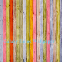 Rainbow color wood grain Decorative mural 3D Wallpaper