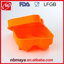 Hot Sale Easy Non-stick Good Price Chinese FDA passed BPA Free Silicone Ice Cooler Cream Cone Mold Silicone Ice Cube Mold