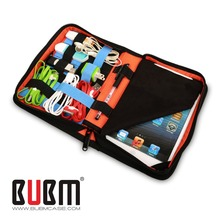 BUBM USB Flash Drive Cable Organizer Bag Carrying Tablet Case For iPad mini