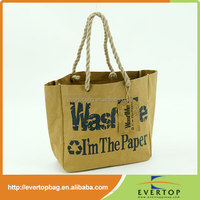 washable kraft paper bag shopping bag