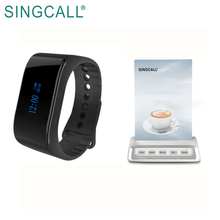 SINGCALL waiter calling wireless restaurant calling system with arcylic board menu holder