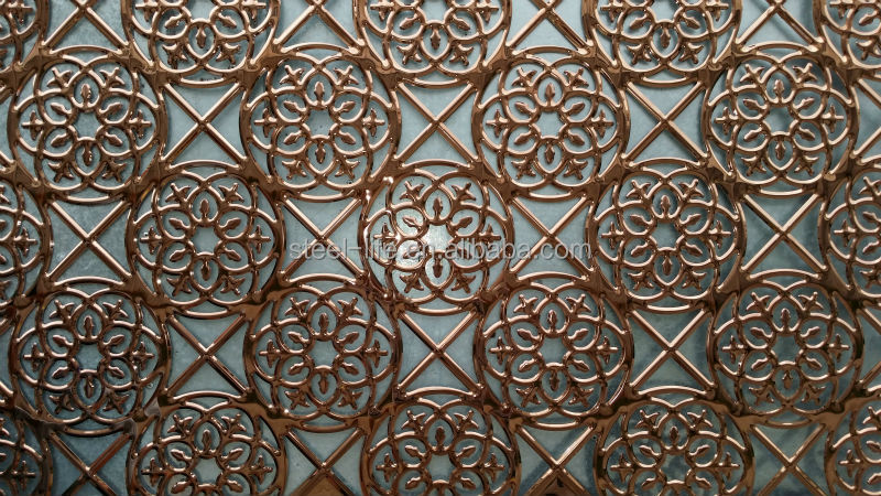 wrought checkered perforated stainless steel art decorative wall panels