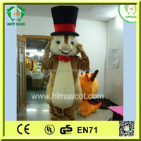 HI CE High quality professional alvin chipmunks cartoon character mascot costume for adult