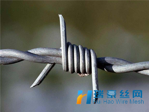 Barbed wire installation fence