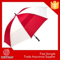 cocktail dress promotional deluxe red and white golf umbrella