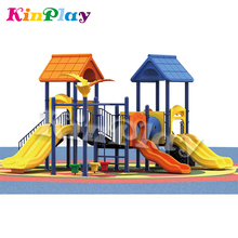 KINPLAY Brand 2018 New Castle Series Children Slides Outdoor Playground With Double Wave Slide For Sale