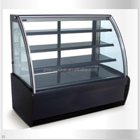 Counter cake display/refrigerated showcase/front door open cabinet