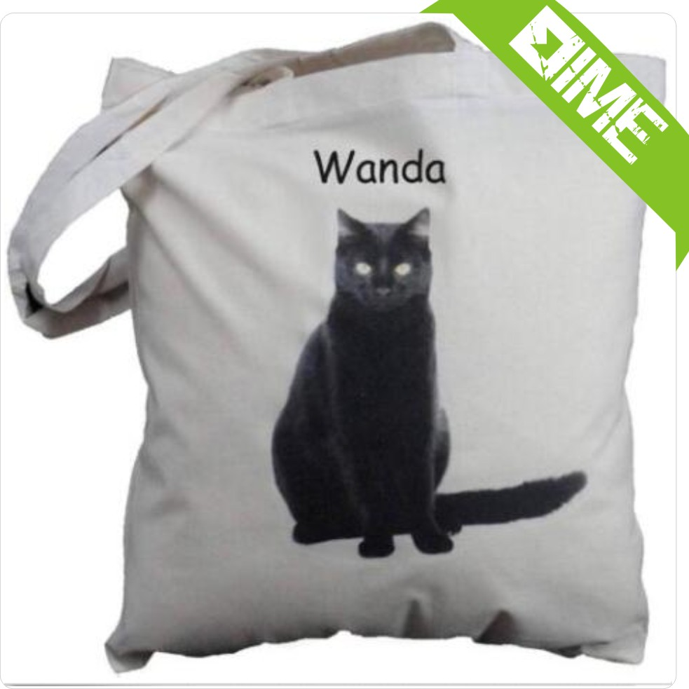 Shopping Websites With Black Cat Cotton Tote Bag
