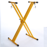 MUST- Yellow Double X Shape Keyboard Stand Welded Type For Musical Instruments Accessories