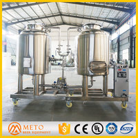 100L Beer Brewery Alcohol Fermentation Equipment Stainless Steel Brewery Equipment