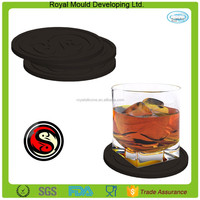 Custom 4-inch Softworks 6 Pack Tai Chi Fish Silicone Drink Coasters Set Cup Mat
