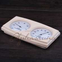 Beautiful design Thermometer Sauna Hygrometer Gauges , Wood Wall Mount Humidity hygrometer sauna gauges Sauna manufacturer