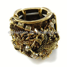 Hot Selling Fashion Vintage Chains Braided Punk Ladies Finger Ring