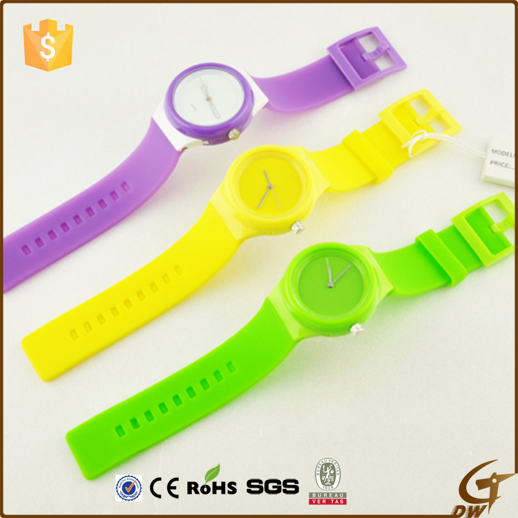 Customized logo silicone jelly watch oem