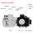 2019 New Arrivals wholesales 40m Underwater Depth Diving Case Waterproof Camera Housing for Canon EOS 750D  (Black)