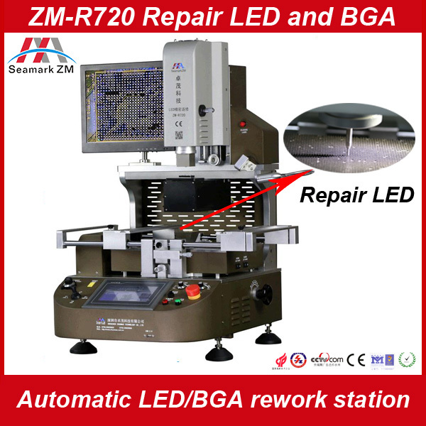 ZHUOMAO factory hot air and infrared chip removal machine tools ZM-R720 iphone/ipad chip rework machine for motherboard repair