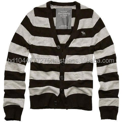 Stripe cotton Cardigan