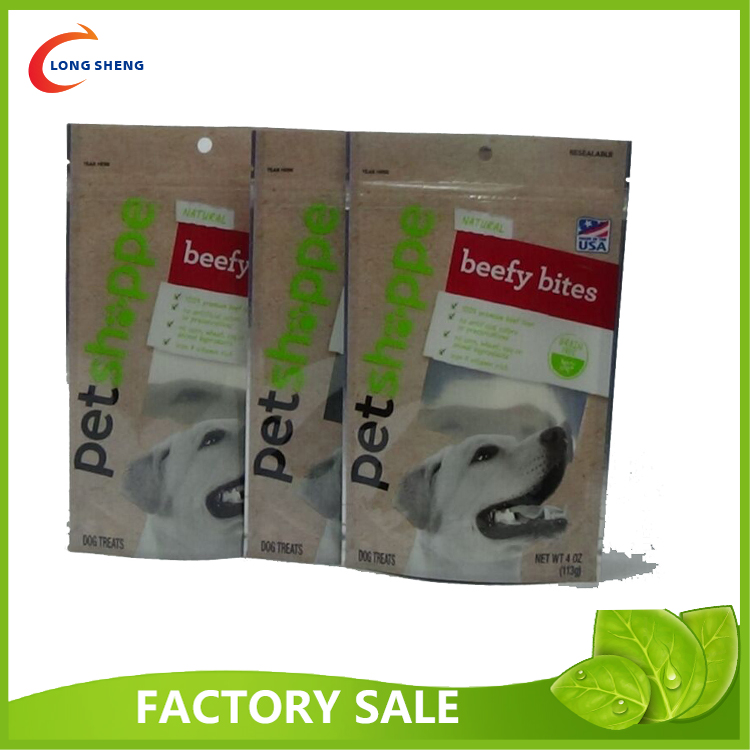 hot sale dog food packaging bag stand pouch with zip lock