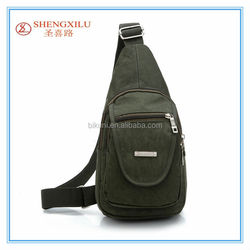 Suitable for men's 2015 new style canvas casual sport waist bag and messenger bag Shoulder Bag