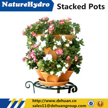 Patented Stacked Garden Planters Vertical flower pot