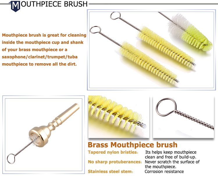 Professional Snake Best Trumpet Care Cleaning Brush Kit Valve Cleaning Brush