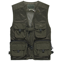 Custom mens mesh V-neck fishing vest