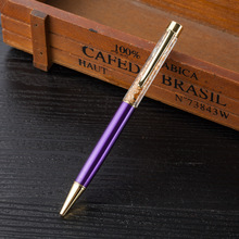 2018 fashion business gift low MOQ purple metal crystal ball-point pens
